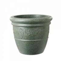 Stewart Garden Grapes Bell Pot - Marble Green 47cm