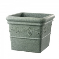 Stewart Garden Grapes Square Planter - Marble Green 47cm
