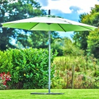 Supremo Riviera Free Arm Round Parasol 3m - Lime Green