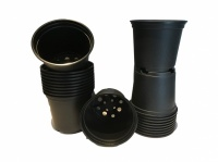 10.5cm Black Plastic Pots Set of 20
