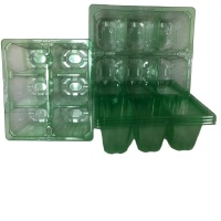 6 Cell Clear Plug Tray - Set of 5 Trays