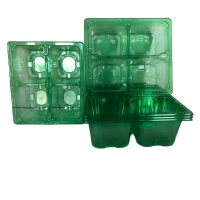 4 Cell Clear Potting Tray Set of Trays
