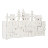 Noma® Advent Calendar LED Lit Wood Village Scene 37.5cm (1214009)