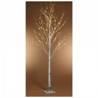 Kaemingk Pre-Lit Paper Birch Christmas Tree 8ft (2.4m) Warm White (499184)