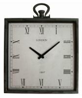 Town & Country 14'' Indoor Square Metal Clock