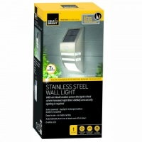 Cole & Bright Motion Sensor Solar Wall Light - Stainless Steel