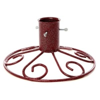 Tom Chambers Sleigh Base 5'' Christmas Tree Stand - Mulberry Red