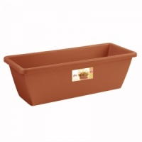 Elho Barcelona Trough Planter 50cm - Terracotta