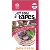 Suttons Seed Tapes  - Pak Choi Red & White